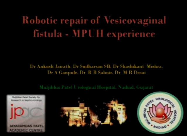 Robotic repair of vesicovaginal fistula – initial experience
