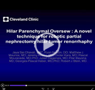 Hilar Parenchymal Oversew: a novel technique for robotic partial nephrectomy hilar tumor renorrhaphy