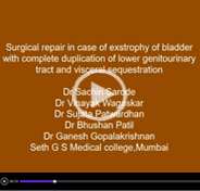 Surgical repair in case of covered exstrophy of bladder with complete duplication of lower genitourinary tract and visceral sequestration