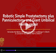 Robotic simple prostatectomy plus panniculectomy and Giant umbilical hernia repair