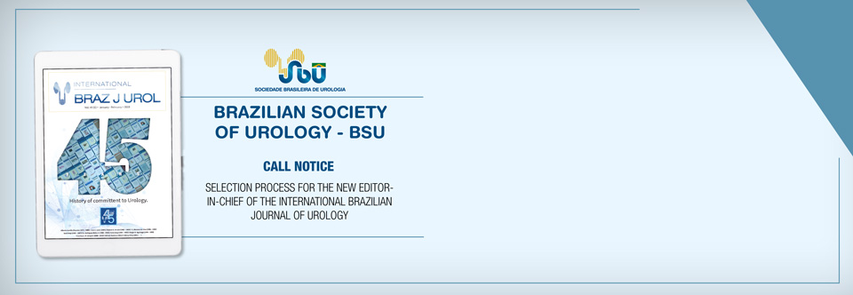 Selection process for the new Editor-in-Chief of the International Brazilian Journal of Urology