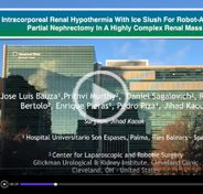 Intracorporeal renal hypothermia with ice Slush for robot-assisted partial nephrectomy in a highly complex renal mass