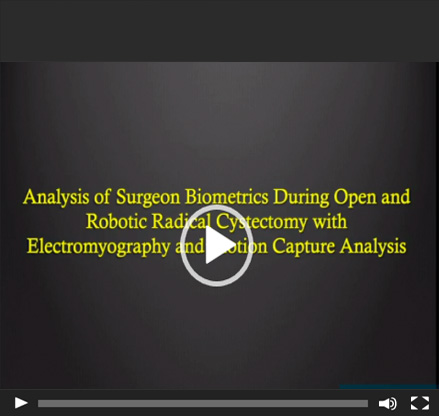 Analysis of surgeon biometrics during open and robotic radical cystectomy with electromyography and motion capture analysis