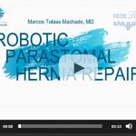 Robotic parastomal hernia repair